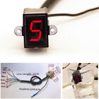 LED N-5 Speed Digital Gear Indicator for Motorcycle Shift Lever Gauge Universal