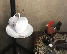 Bird Feeder Hanging Floral Cup & Saucer