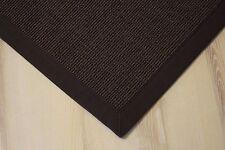 Sisal Teppich Salvador mit Bordüre dunkel braun 200x250 cm 100% Sisal