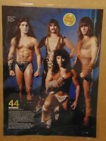 MANOWAR Heavy Metal Band Music Critic Hater Original Print Article Clipping