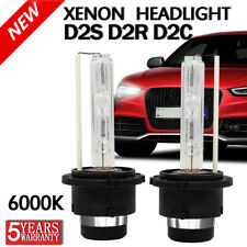 Pair 55W D2S D2R D2C HID XENON HEAD LIGHT BULB LAMP LOW BEAM 6000K DIAMOND WHITE