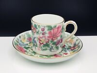 Crown Staffordshire - F7117 - Demitasse Cup & Saucer Set Thousand Flowers