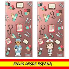 Funda Movil Sony Xperia Profesion Enfermero Enfermera Nurse Dibujo Transparente