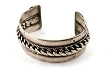 Heavy Vintage Egyptian Bedouin Solid Silver Siwa Cuff Bangle Pre-1946 120g