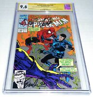 Amazing Spider-Man #349 3x CGC SS Signature Autograph STAN LEE BAGLEY EMBERLIN