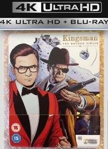 KINGSMAN: THE GOLDEN CIRCLE (4K UHD) STEELBOOK +Blu-ray