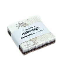 """MINI CHARM PACK~COMPOSITIONS~MODA~42-2.5"""" SQUARES~BASICGREY~TAN GREY TAUPE"""