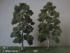 H0 Jordan Nr.1 - 2 Stk. Laubbäume Birken Premium im Set ca. 18 cm neu OVP