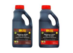 (1-2x1.9L)Lee Kum Kee The Professional Range Premium Light Soy Sauce, Dark Soy