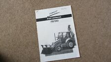 FIAT-HITACHI FB100 BACKHOE BROCHURE PHOTOCOPY