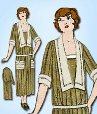 1920s Vintage Superior Sewing Pattern 4012 Plus Size Ladies Early 20s Dress 44 B