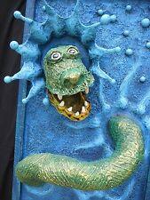 """Original art - """"Snake Splash"""" - mixed-media 3-D"""
