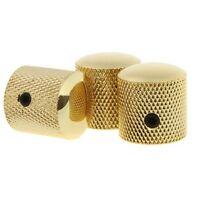 3pcs Gold Metal Electric Guitar Knobs Dome Knob For Fender Tele Telecaster Parts