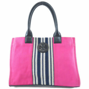 Tory Burch   Tote Bag Logo motif Canvas Leather