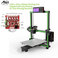Anet E2 High Precision DIY Machine 3D Printer Kit Print Size 220x270x220mm 250W