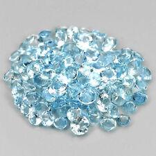 25 PIECES OF 1.5mm ROUND-FACET LIGHT PASTEL-BLUE LAB SPINEL GEMSTONES