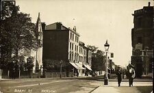 Hendon. Brent Street by Alf Cooke. Bank at right.