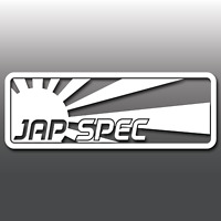 JDM Jap Spec Rising Sun Funny Car Window Bumper Vinyl Decal Sticker