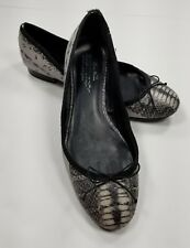 Zara Woman Ballet Flats Size EU 40 Grey Black Animal Print
