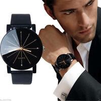 Military Sport Quartz Star Wrist Watch Mens Date Leather Stainless Steel I0-01