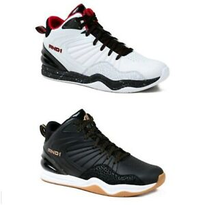AND1 Men's White or Black Lace-up High Top Athletic Sneakers Shoes: 9-13