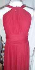 Twist Wrap Infinity Dress - * Bridesmaid, Evening, Deep Crimson Red - Flash Sale