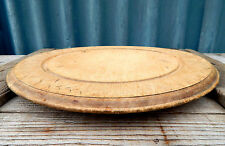 Vintage Round Wooden Chopping / Bread Board Carved Detail Kitchenalia Shabby #2