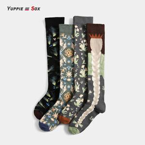 Fashion Knee-High Socks Long Tube Stockings Girls Women Men Autumn Winter Socks