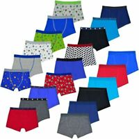 Pack of 3 / 6 Boys Trunks Boxer Shorts Briefs Cotton Elasticated Waist Underwear