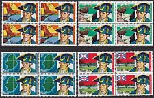 NIUE 1974 Capt Cook Bicentenary set blocks of 4 MNH.........................1792