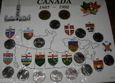 Canada 1992 13 quarters + 2 Loonies   UNC  in cardboard pouch