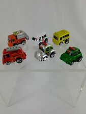 6 Pullback Penny Racers cars Bus Fire Trash Truck Ambulance Police etc PRE-Owned