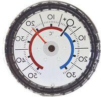 Herbert Richter Scheiben Thermometer spiegelverkehrt Durchsicht 7 cm justierbar