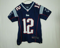 Tom Brady New England Patriots NFL Football Jersey REEBOK Size YOUTH SMALL 8