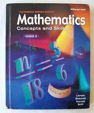 MATHEMATICS CONCEPTS & SKILLS COURSE 2 Larson Boswell Kanold Stiff Grade 6 7 & 8