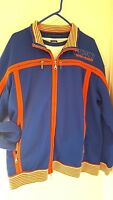Marithe Francois Girbaud 3 pc Set Orange Blue Tee Jacket and Sweatpants Large L