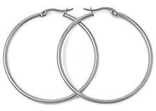 Round Hoop 2mm x 30mm Stainless Steel Earring