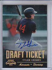 TYLER GRIMES 2011 PLAYOFF CONTENDERS DRAFT TICKET AUTO