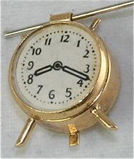 Clock Charm Vintage 14K Gold