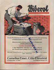 KÖLN, Werbung 1912, Cornelius Esser BIBEROL Esser's Mörtelzusatz wasserdicht