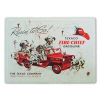 "12"" X 17"" TEXACO FIRE CHIEF GASOLINE METAL SIGN RARIN' TO GO!"