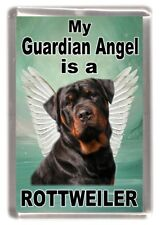 "Rottweiler Dog Fridge Magnet ""My Guardian Angel is a Rottweiler"" by Starprint"