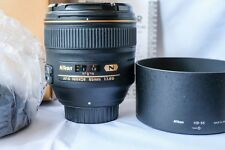 NIKON AF-S 85MM F1.4G MINT CONDITION IN ORIGINAL BOX WITH ALL ACCESSORIES