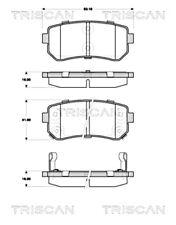 TRISCAN Disc Brake Pad Set For KIA HYUNDAI Ceed Sw Cerato II Koup 58302-1HA10