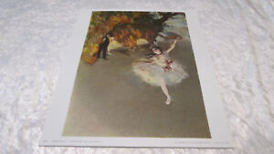 """Ancienne Lithographie E. DEGAS """" Danseuse sur la Scène """" Edition Braun & Cie"""