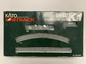 Used Excellent Kato Unitrack Standard Set 20-831 N Gauge K1 Railroad Train S1