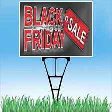 "18""X24""  BLACK FRIDAY SALE Outdoor Yard Sign & Stake Sidewalk Lawn Sales Savings"