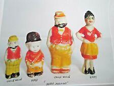 Vintage Antique Moon Mullins Bisque Comic Figurines Uncle Willie Kayo Emmy Japan
