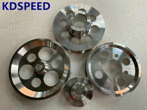 Lightweight pulley FOR 97-01 Toyota Aristo 1JZ 1JZ-GTE 2JZ 2JZ-GTE VVTi 4pcs