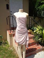 L.A.M.B. Gwen Stefani LIGHT ROSE STRETCH ONE SHOULDER MINI DRESS Sz S/P
